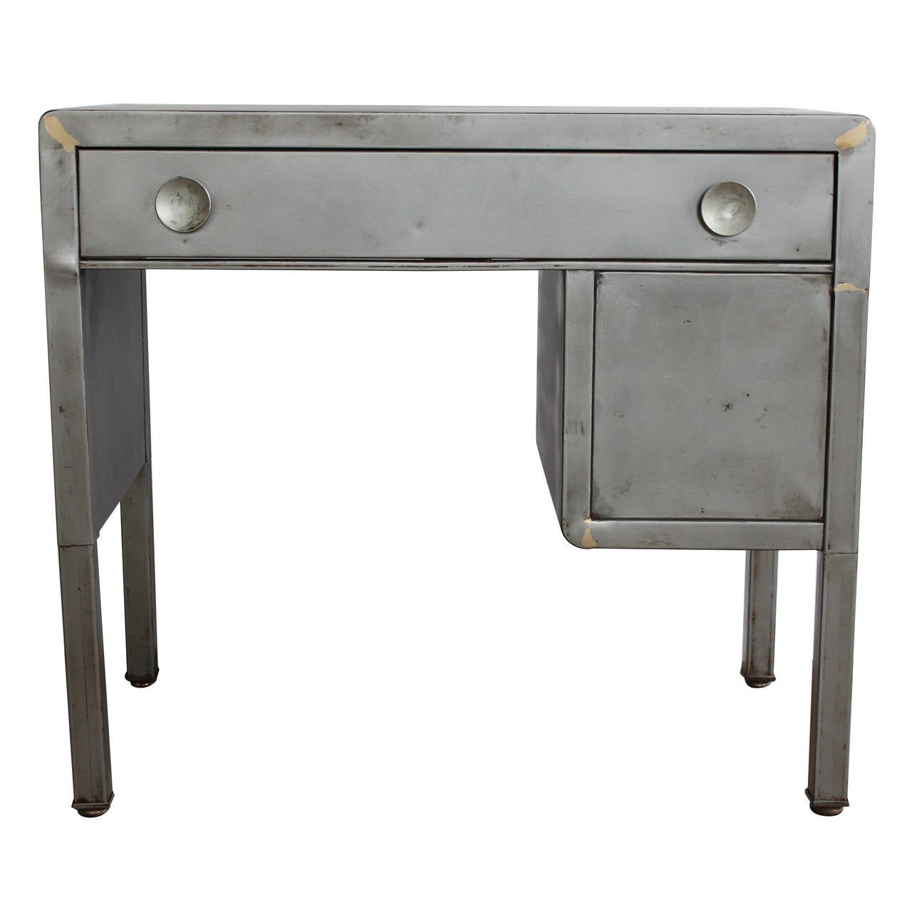 Vintage Industrial Metal Desk By Norman Bel Geddes At 1stdibs
