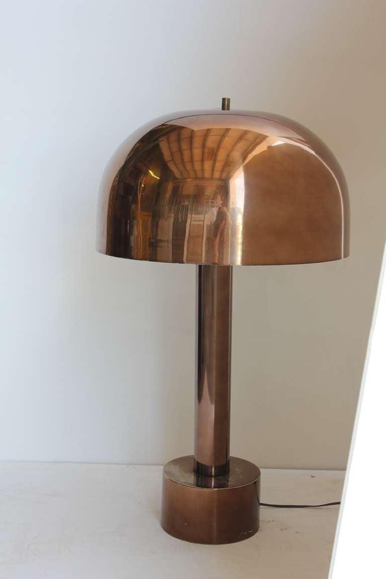Mid Century Chrome Dome Table/Desk Lamp By Laurel 2