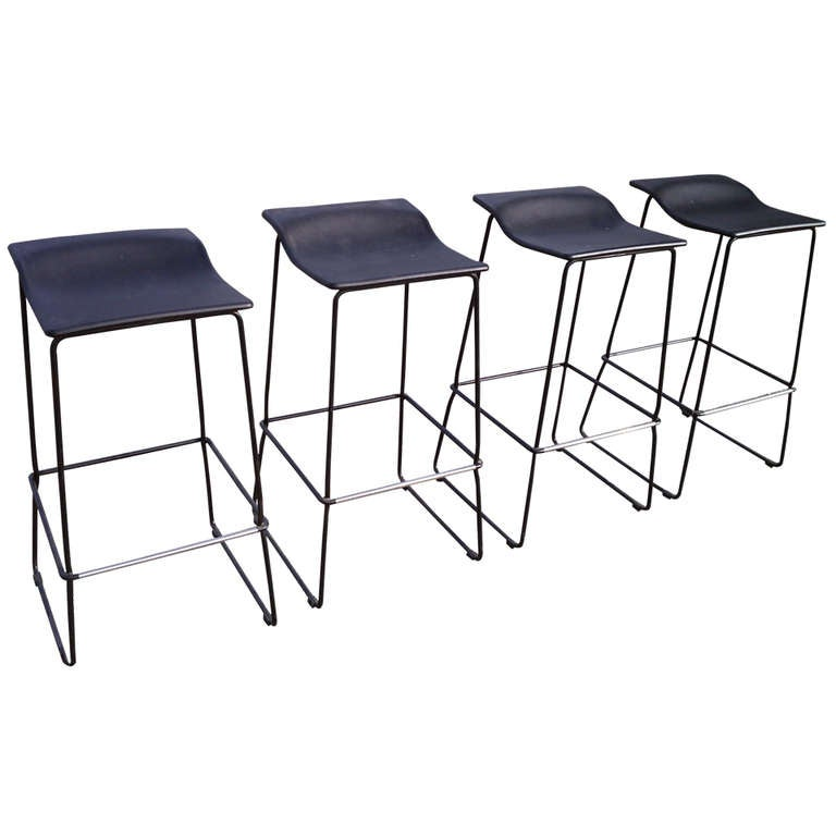 Set Of 4 Bar Stools By Patricia Urquiola For Viccarbe At