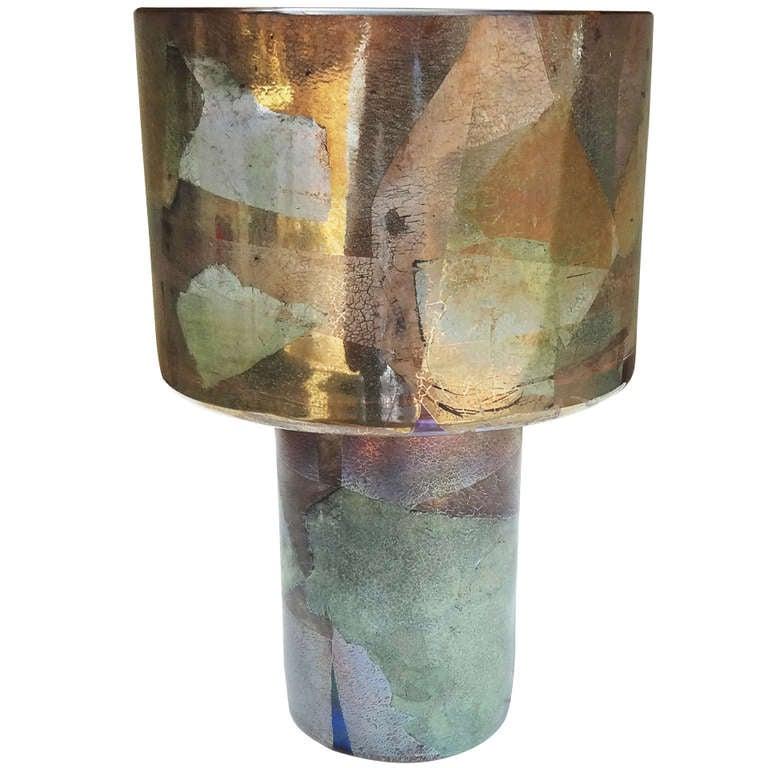 Modernist 1970's Leon Applebaum Art Glass Vase