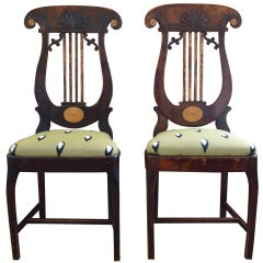 Pair of Russian Empire Side Chairs