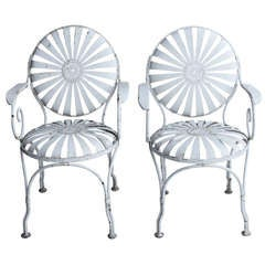 1930's French Garden Armchairs by Francois Carre, 4 available