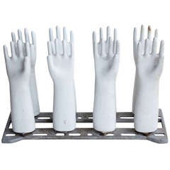 Industrial Glove Molds On The Stand, 2 available