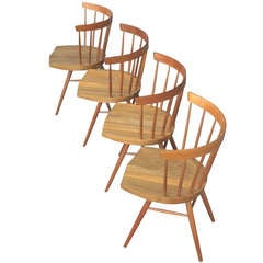 George Nakashima Vintage Studio-Production Straight Chairs
