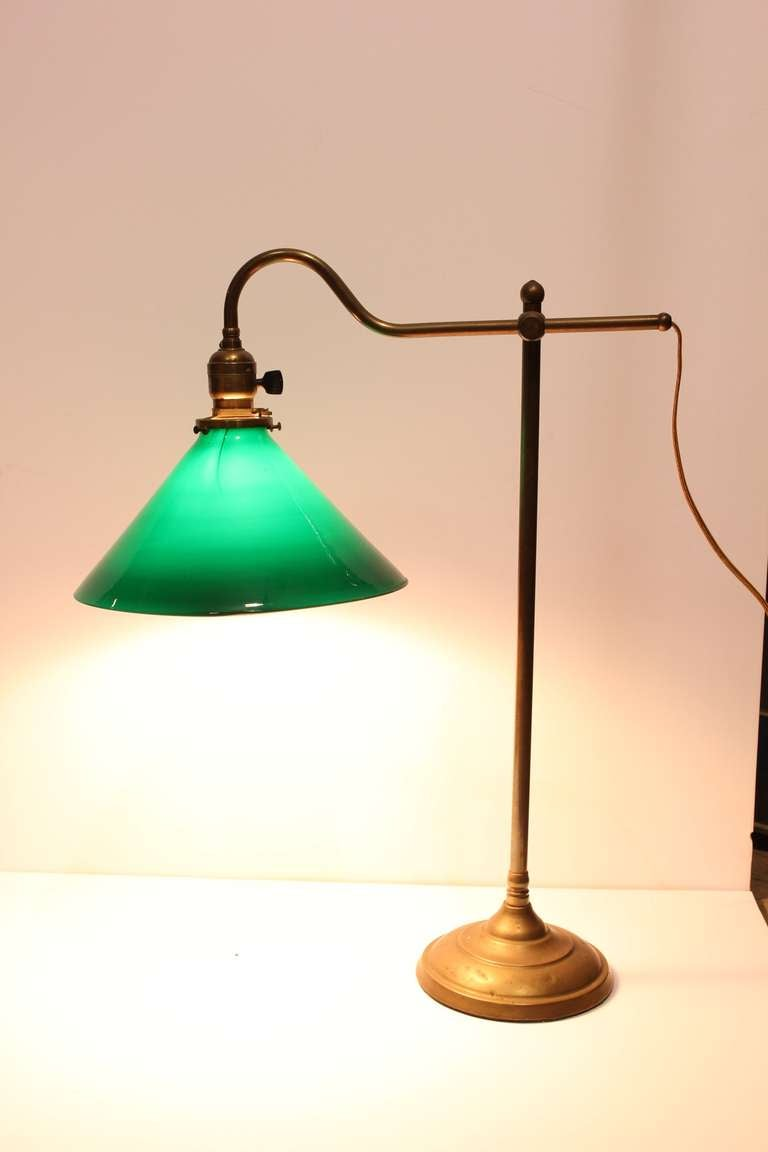this antique banker brass desk lamp is no longer available. Black Bedroom Furniture Sets. Home Design Ideas