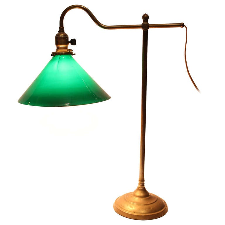 Antique Banker Brass Desk Lamp At 1stdibs