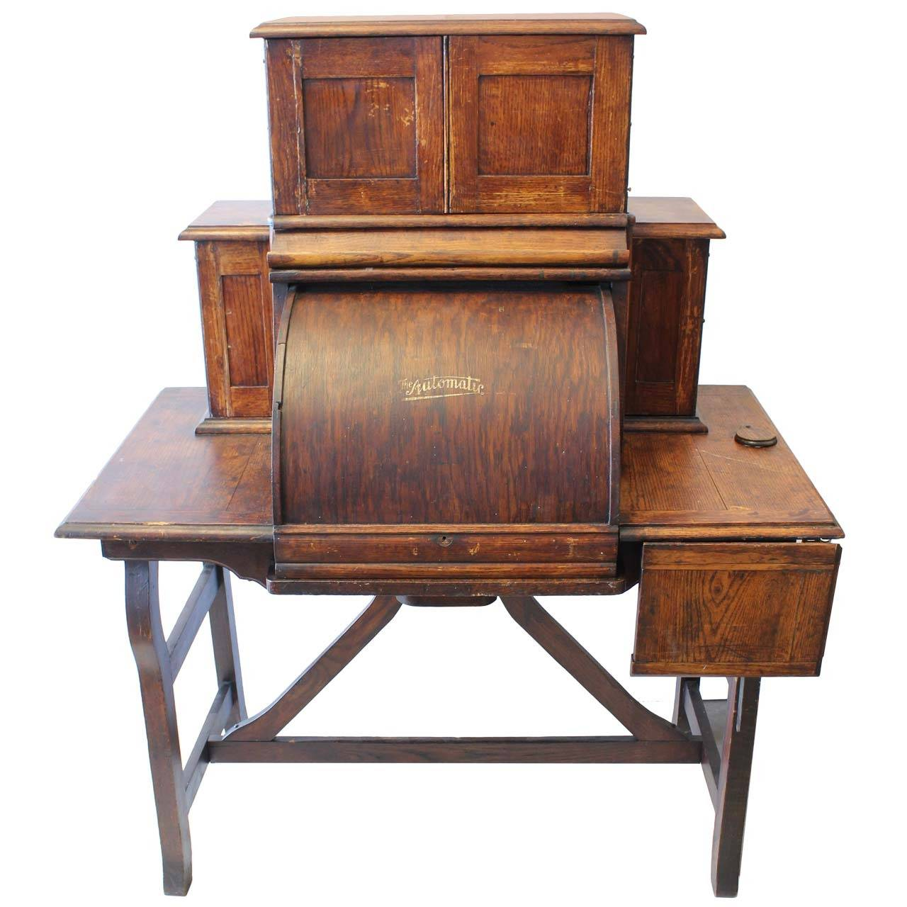 Rare Antique American Industrial Mechanical Desk For Sale - Rare Antique American Industrial Mechanical Desk For Sale At 1stdibs
