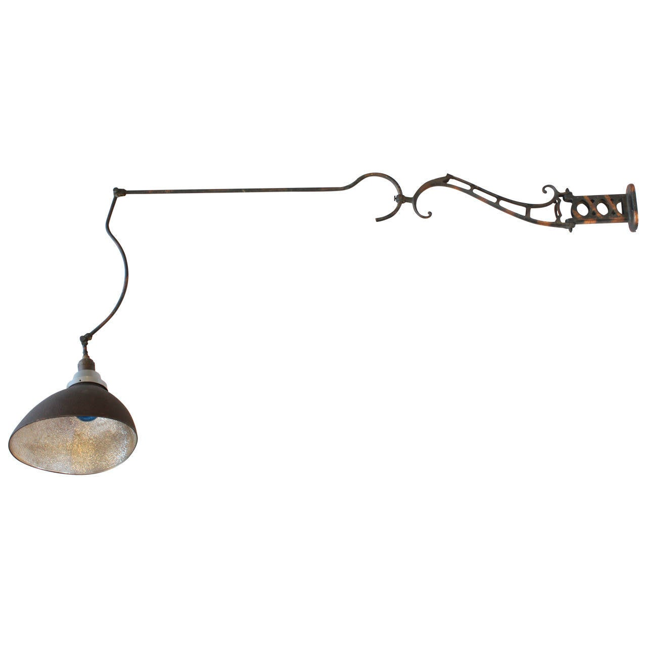 American gooseneck light fixture by abolite lighting at 1stdibs 1920s american articulated wall lamp by faries fixtures arubaitofo Gallery