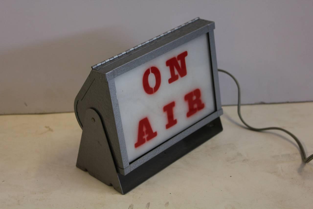 vintage light up radio sign on air at 1stdibs