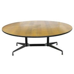Six Foot Dining Round Table by Charles and Ray Eames for Herman Miller