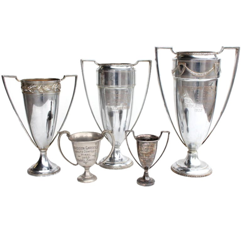 Silver plate loving cups, more available