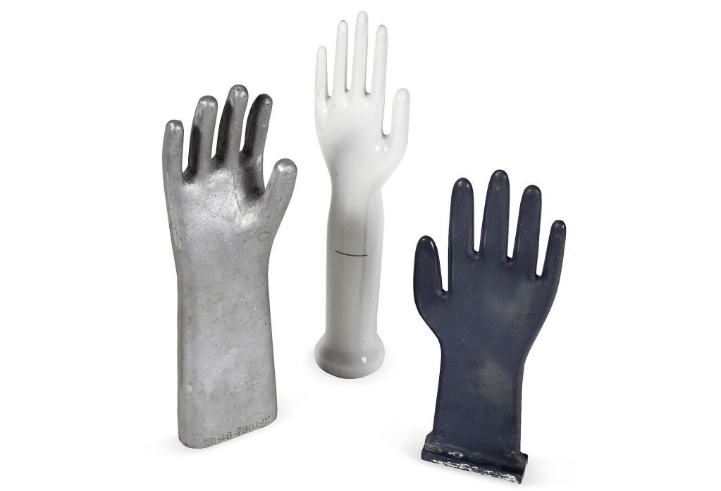Vintage industrial glove molds, more available image 2