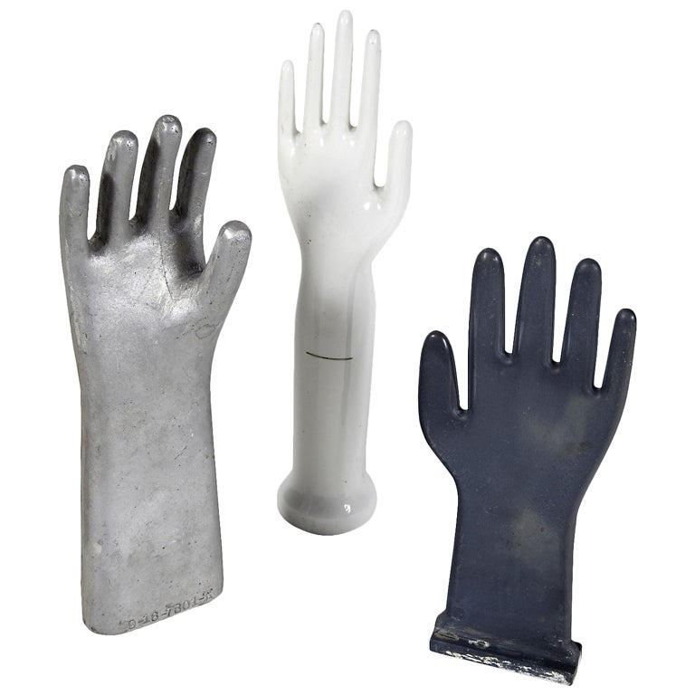 Vintage industrial glove molds, more available