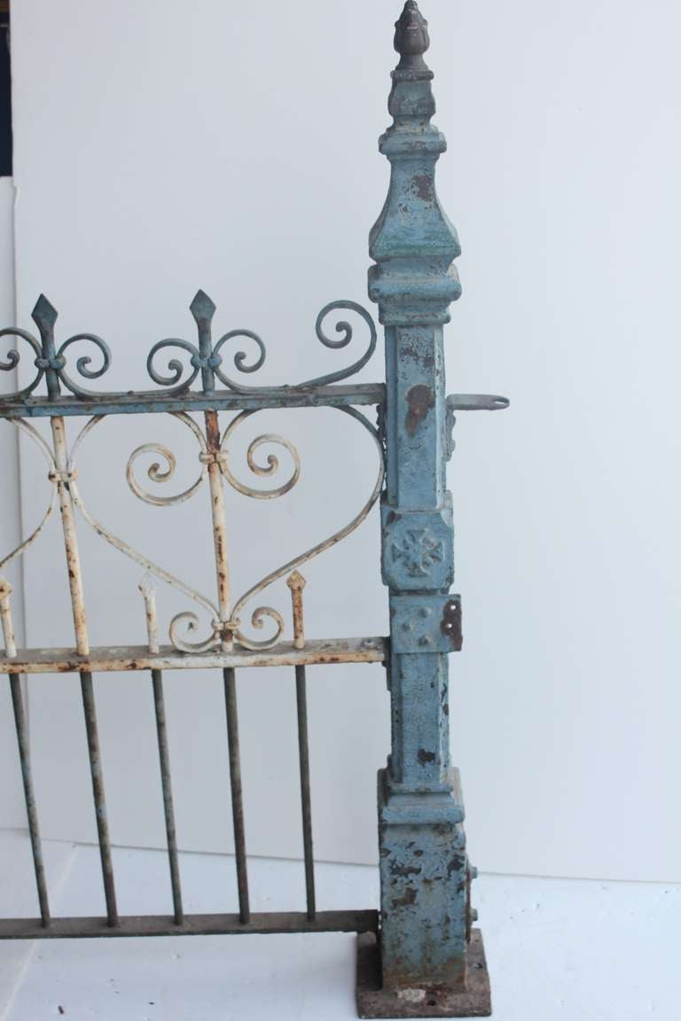 Custom made antique cast iron fence for sale at stdibs