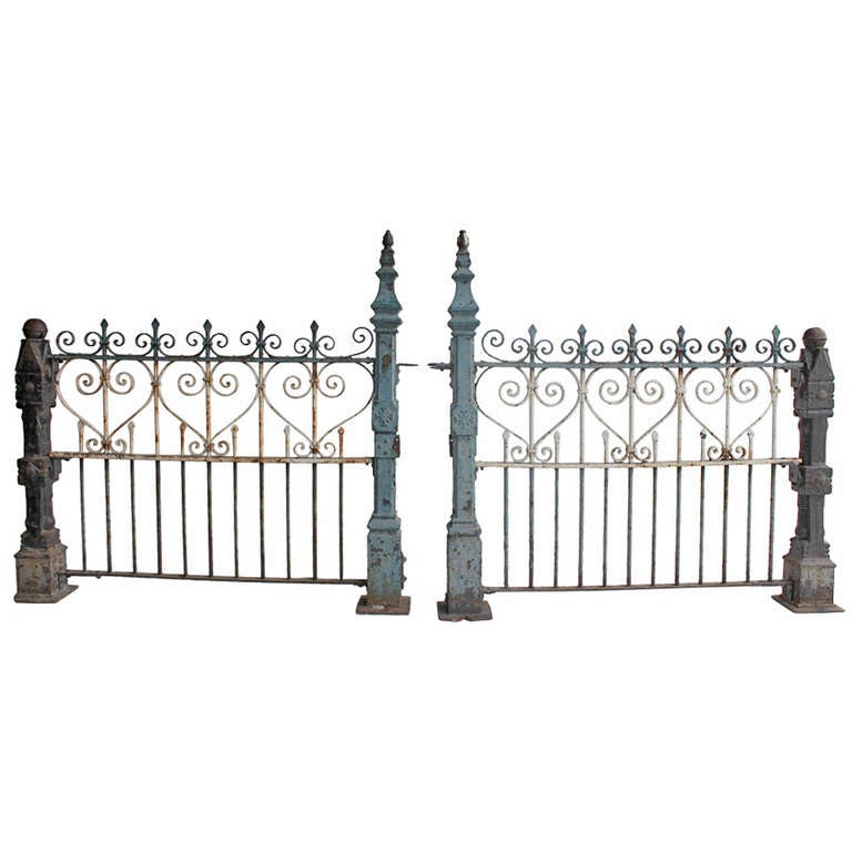 Custom Made Antique Cast Iron Fence At 1stdibs
