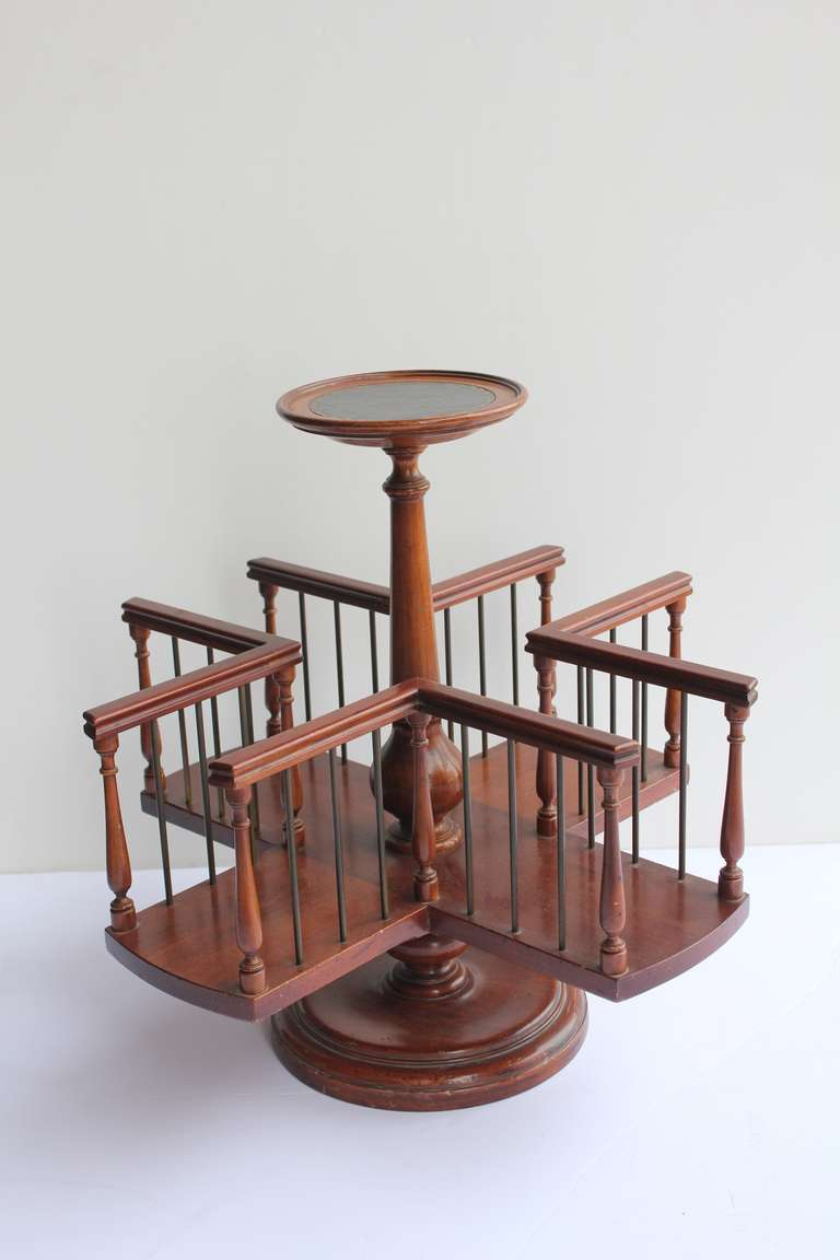 1920s Wood Revolving Desk Book Stand It Is Signed