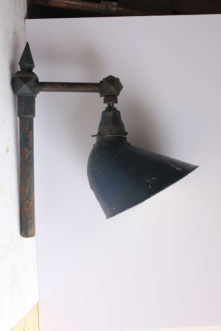 Antique Industrial Wall Sconce For Sale at 1stdibs