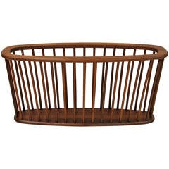 Oversized Teak Magazine Rack by Arthur Umanoff