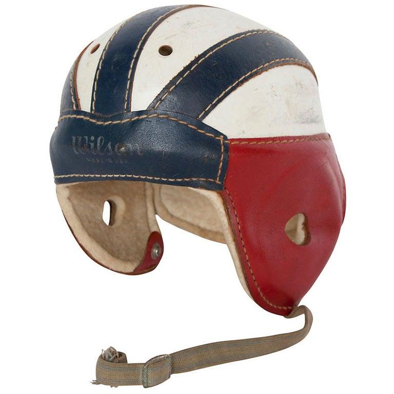 Vintage Leather Football Helmets 76