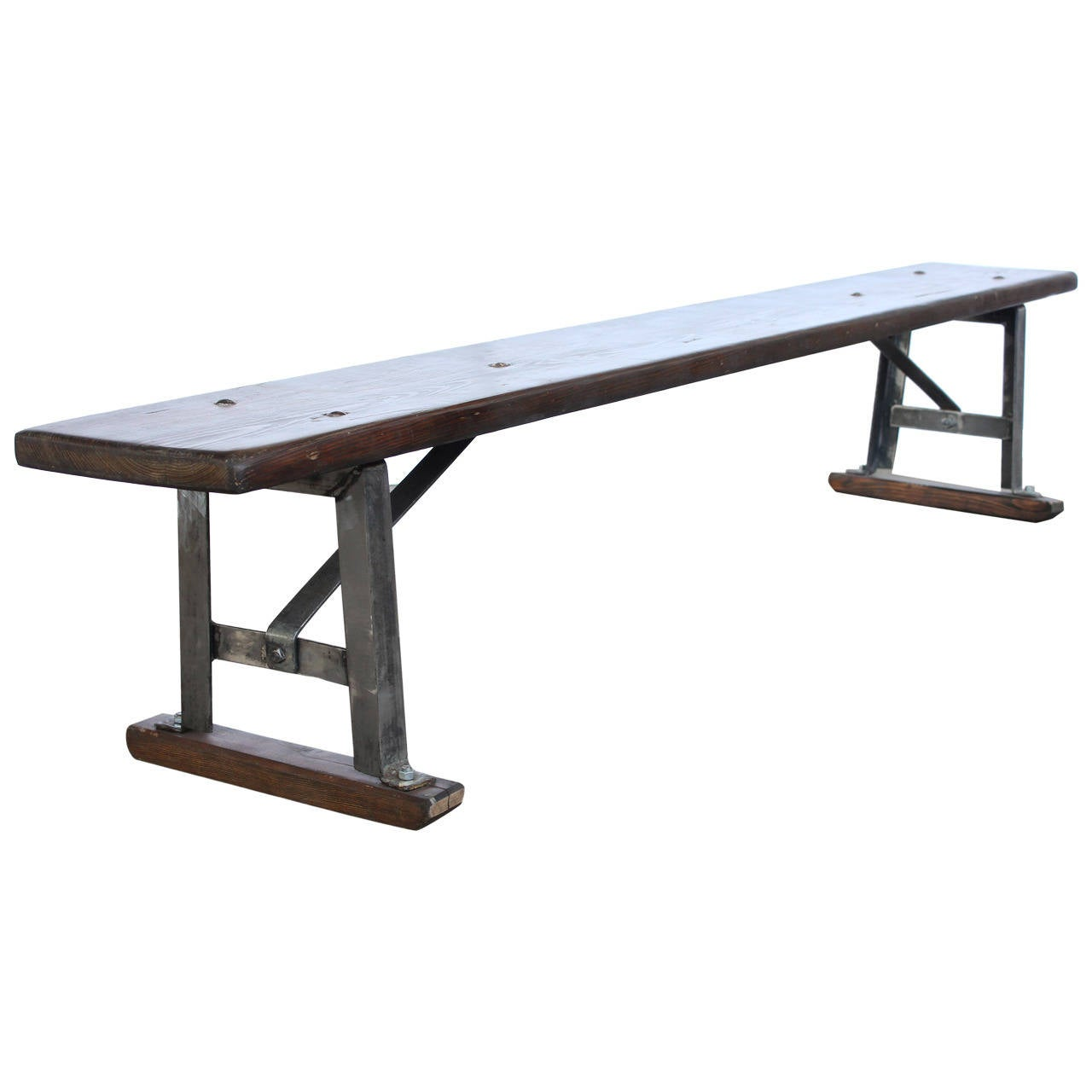 Antique American 7ft Long Gym Bench Two Available At 1stdibs