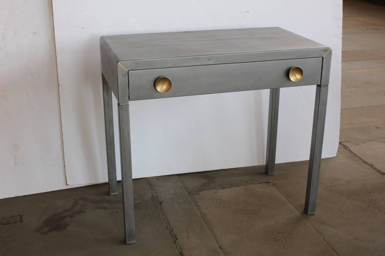 vintage industrial simmons metal side table. American Stylish 1920s Industrial Metal Desk By Simmons For Sale Vintage Side Table P