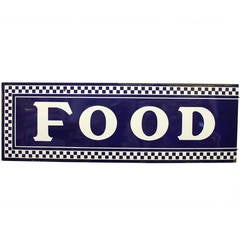 1930s Enamel Sign FOOD