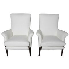 Pair of 1950's English Lounge Armchairs by Parker Knoll