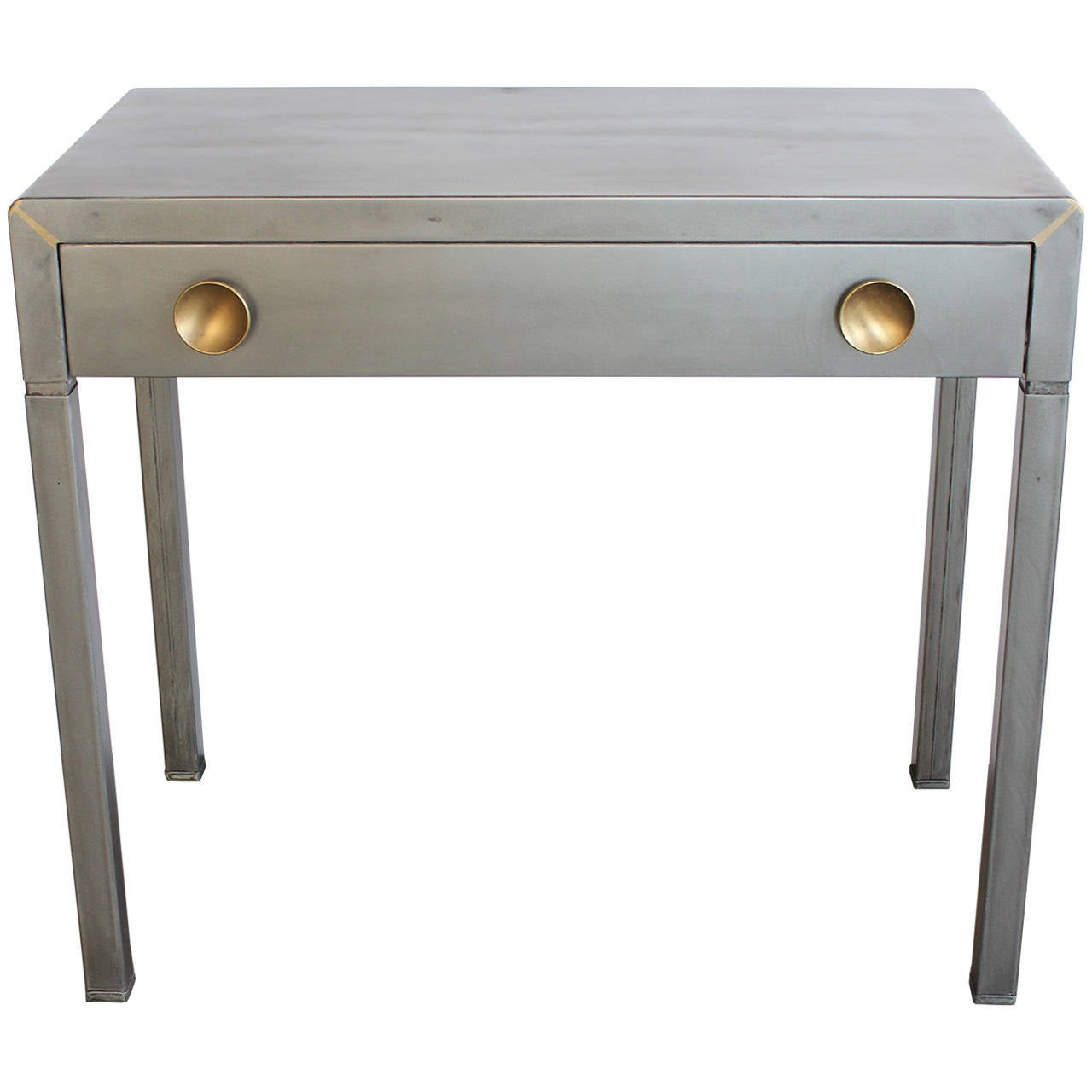 Stylish 1920s Industrial Metal Desk By Simmons At 1stdibs
