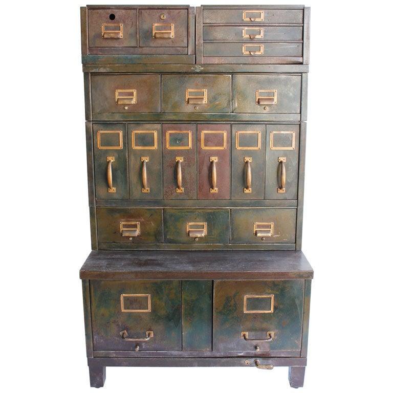 Fantastic Vintage Steelcase Filing Cabinet At 1stdibs