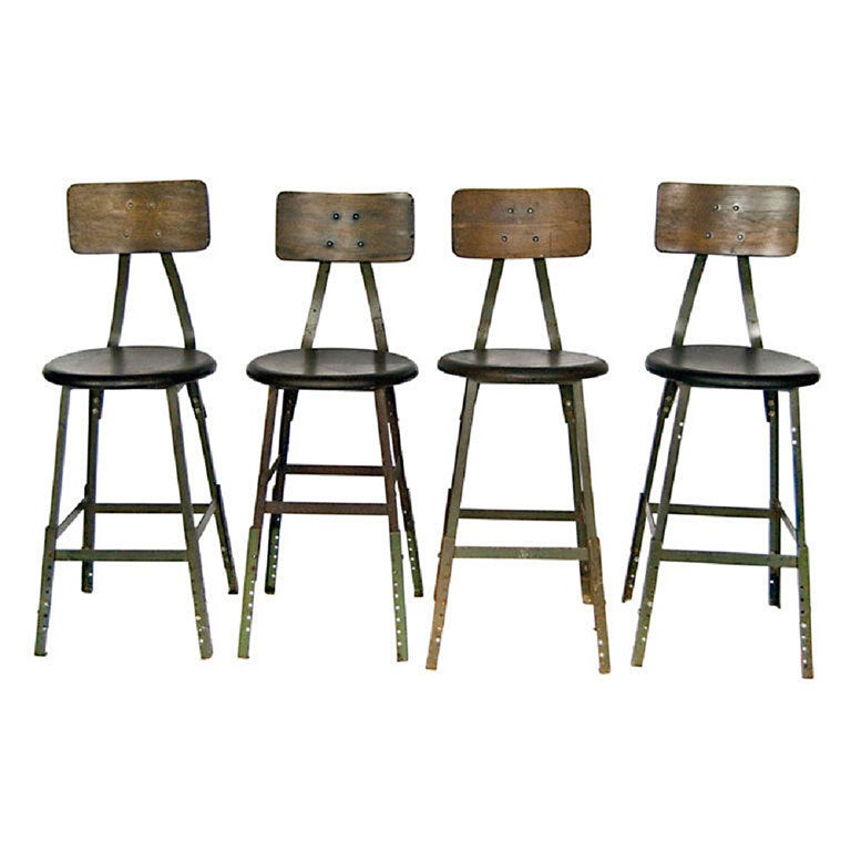 1940 S American Industrial Stools More Available At 1stdibs