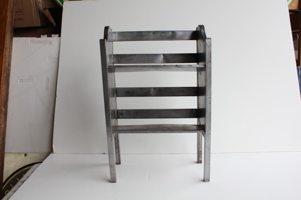 American Industrial Metal 2 Tier Magazine/Book Holder by Simmons For Sale