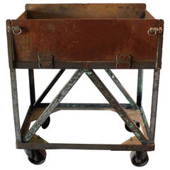 Vintage American Metal Bar Cart