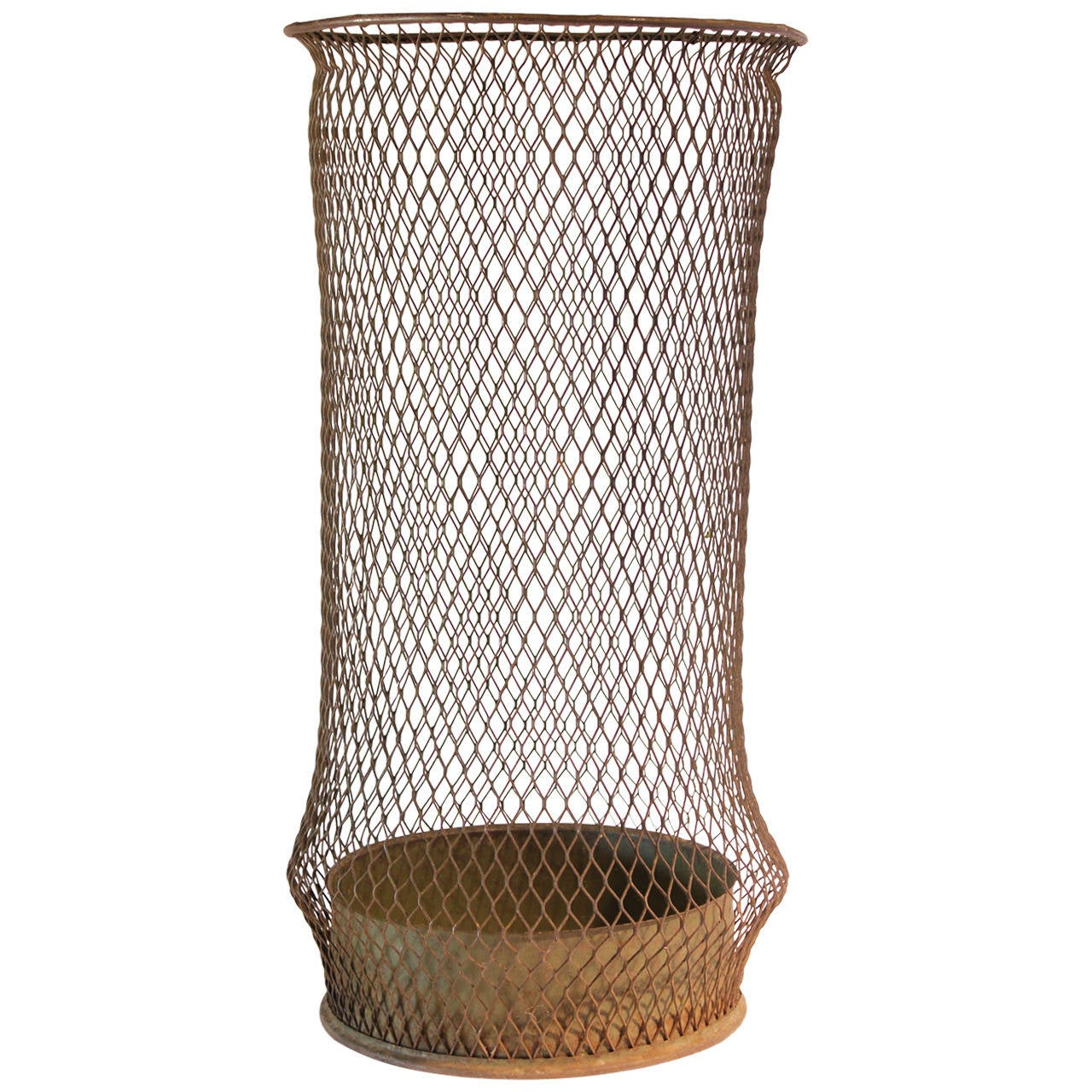 Waste Baskets : Early 20thy Century Tall American Industrial Waste Basket at 1stdibs