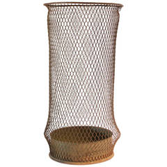 Early 20thy Century Tall American Industrial Waste Basket
