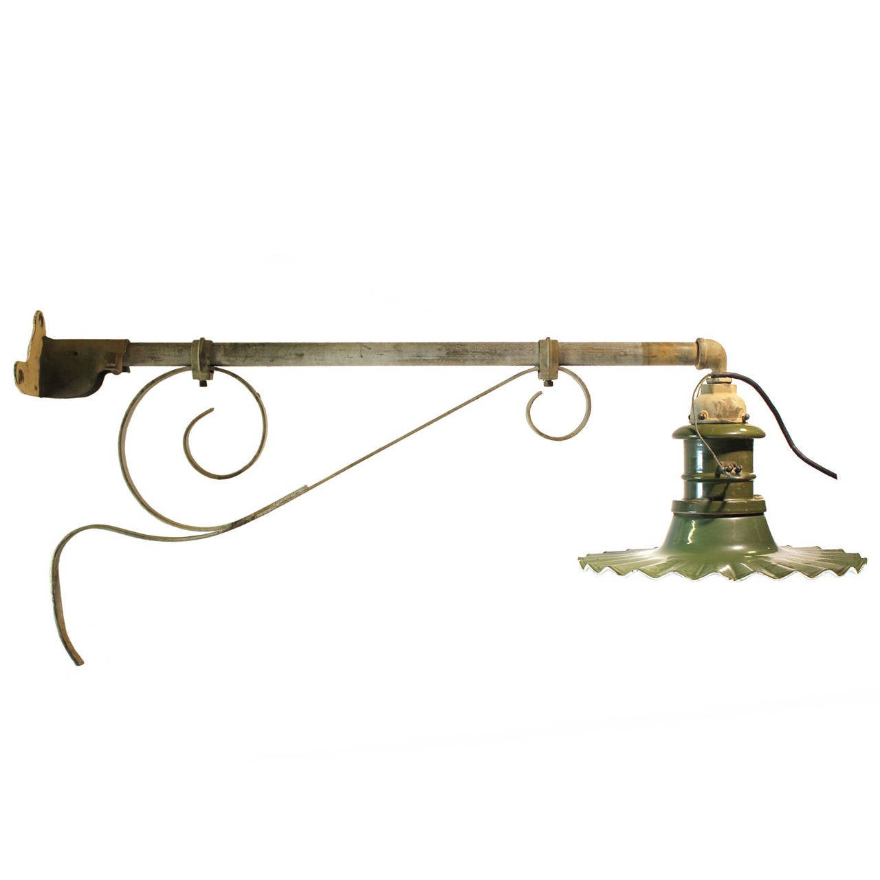 Large Antique American Industrial City Street Wall Sconce, Multiple Available For Sale