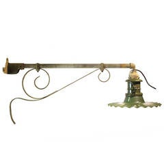 Large Antique American Industrial City Street Wall Sconce, Multiple Available