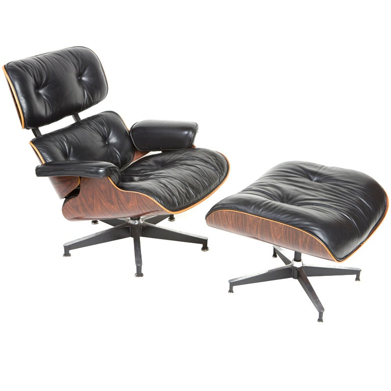 Eames rosewood lounge chair and ottoman for herman miller at 1stdibs - Fauteuil eames original ...