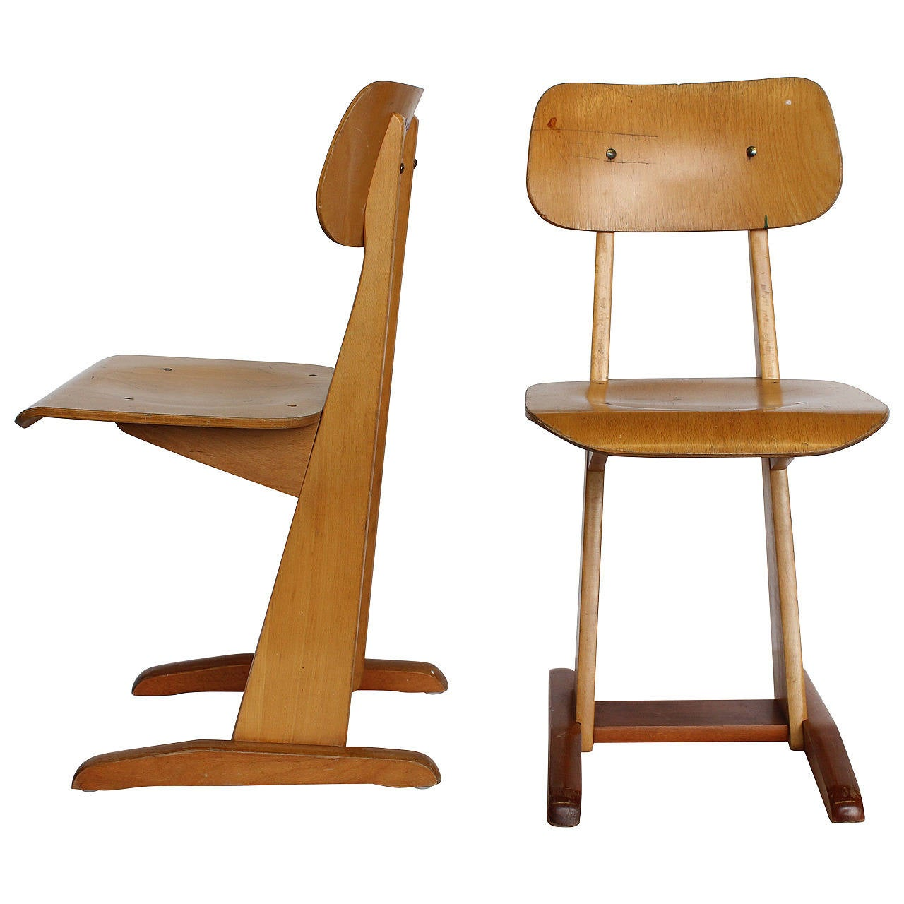1950s bauhaus german sled school chairs by karl nothelfer for School furniture