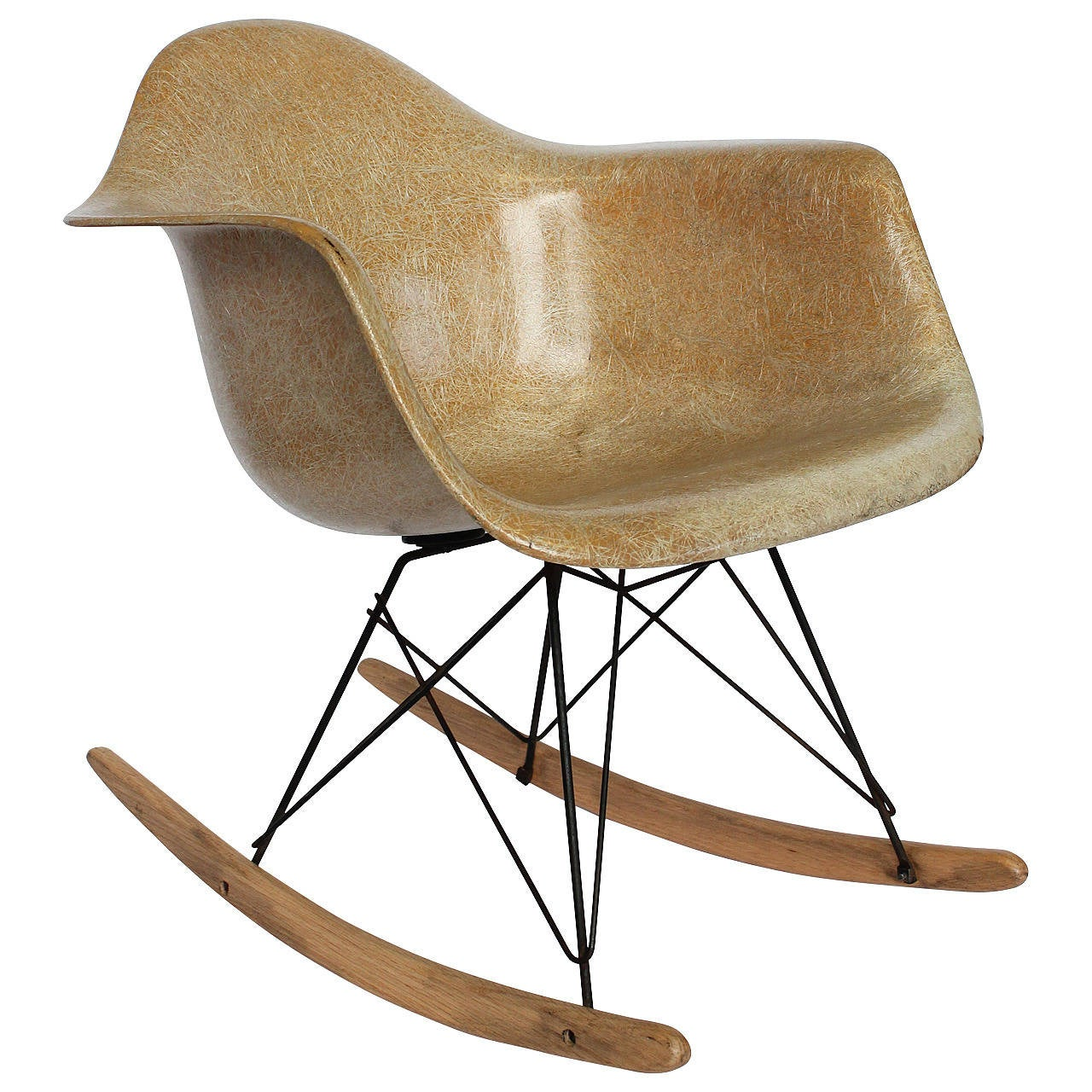 early charles eames rocking chair for herman miller for sale at 1stdibs. Black Bedroom Furniture Sets. Home Design Ideas