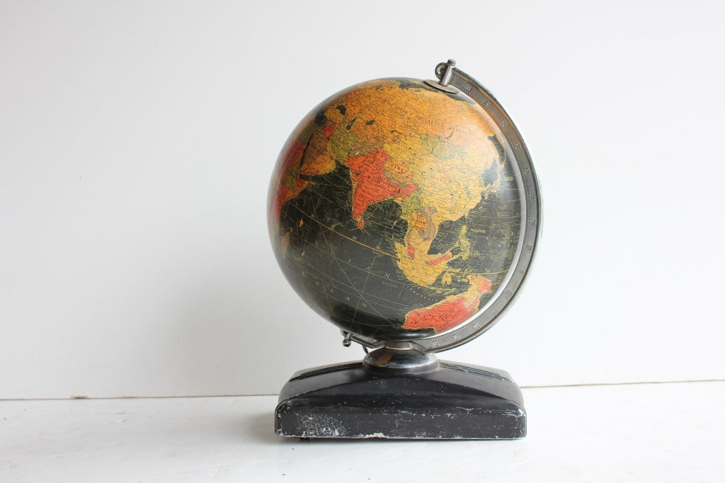 art deco light up glass world globe at 1stdibs. Black Bedroom Furniture Sets. Home Design Ideas
