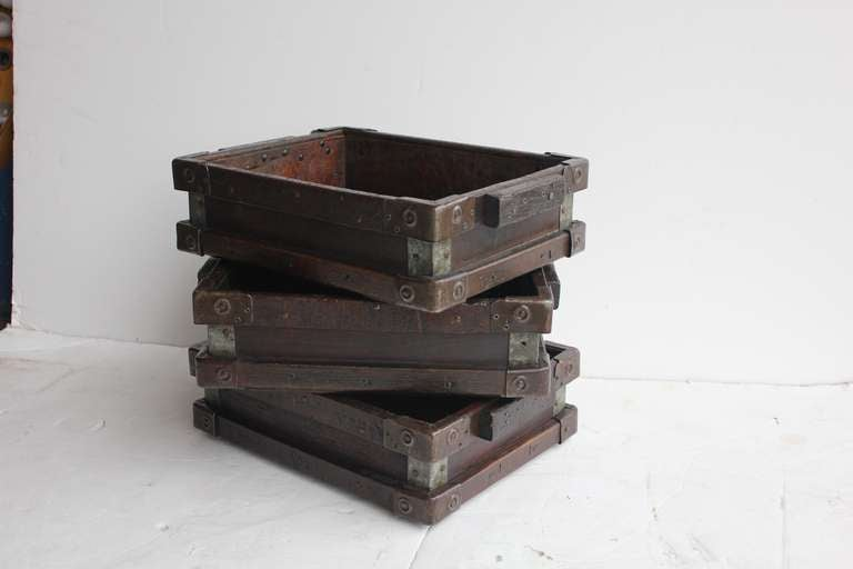 Vintage Industrial Wooden Tray/Box 2