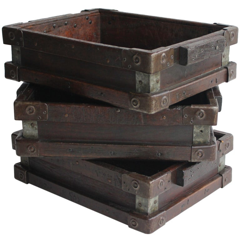 Vintage Industrial Wooden Tray/Box 1