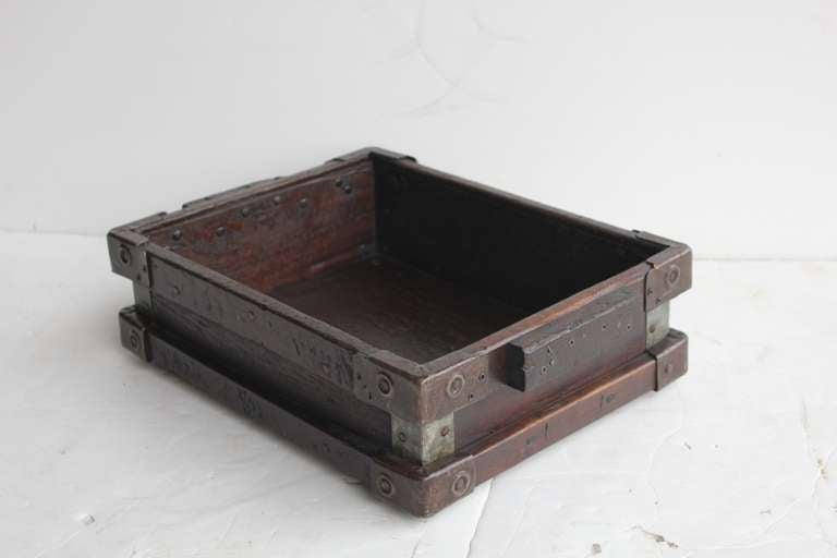 Vintage Industrial Wooden Tray/Box 4