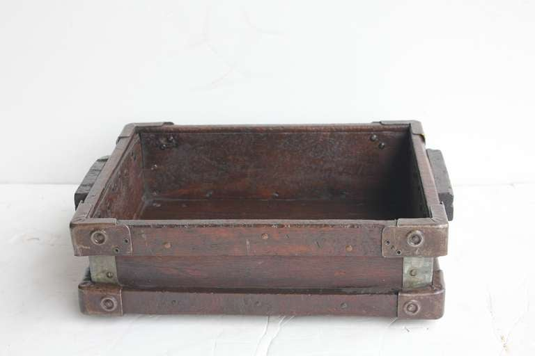 Vintage Industrial Wooden Tray/Box 5