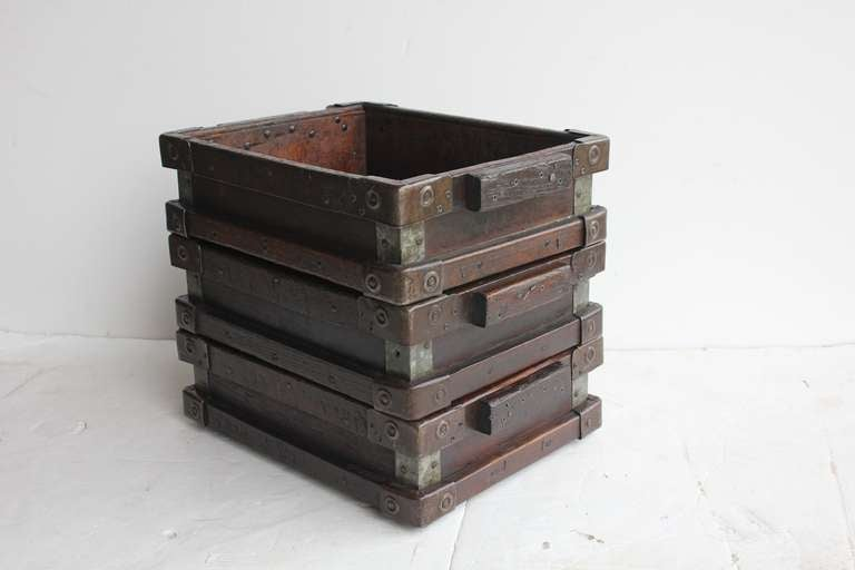 Vintage Industrial Wooden Tray/Box 3