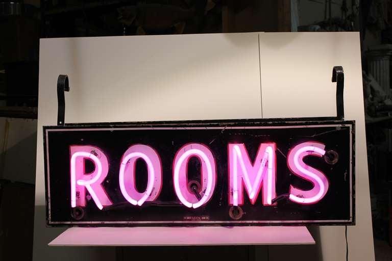 Neon Room Signs Neon Rooms Sign 1950's