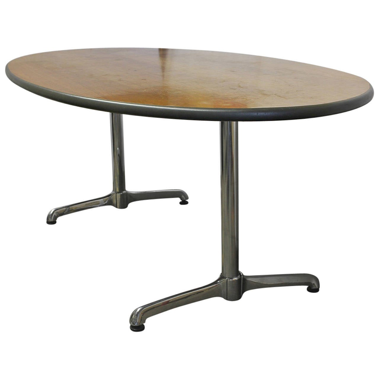 Long Oval Dining Table or Desk by Herman Miller For Sale