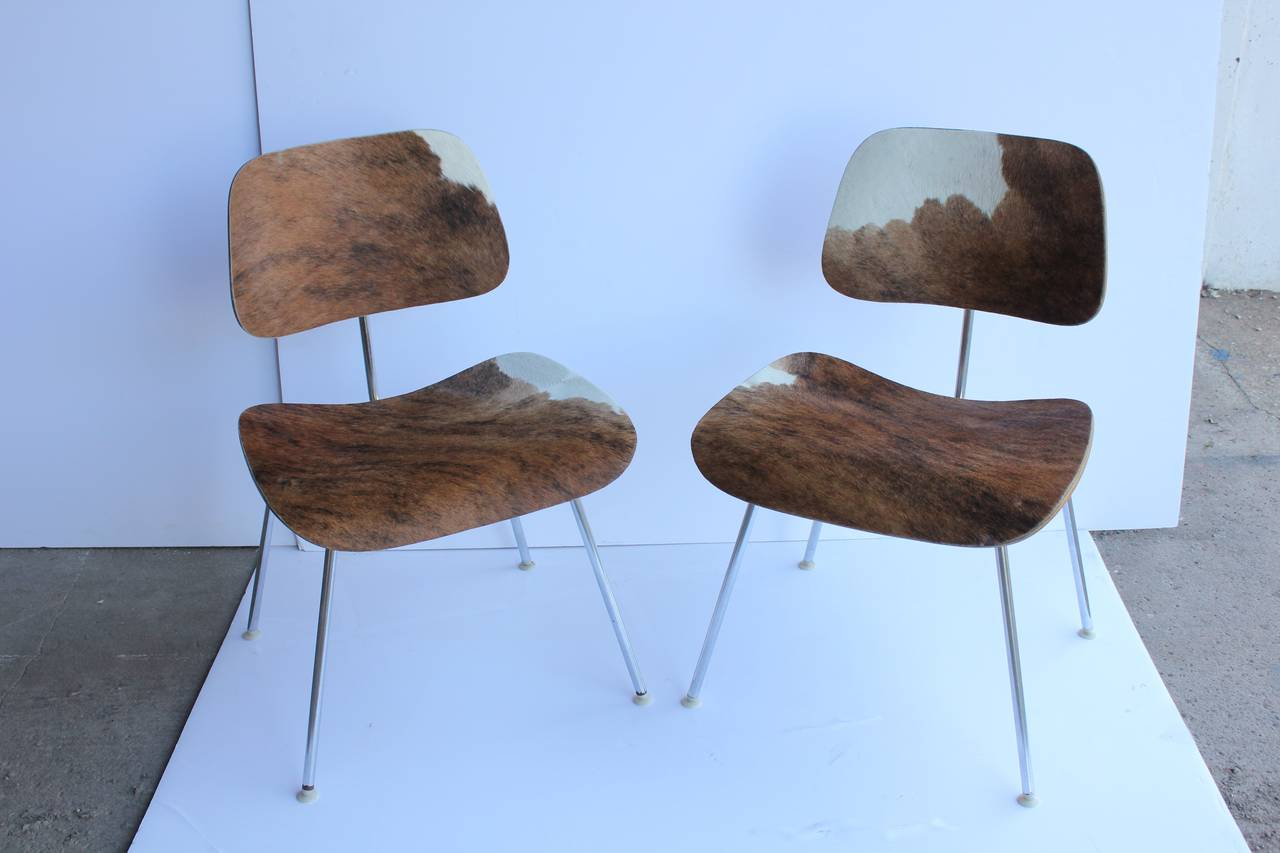 Charles and Ray Eames for Herman Miller DCM Cowhide Chairs  : gosiak447008l from www.1stdibs.com size 1280 x 853 jpeg 69kB