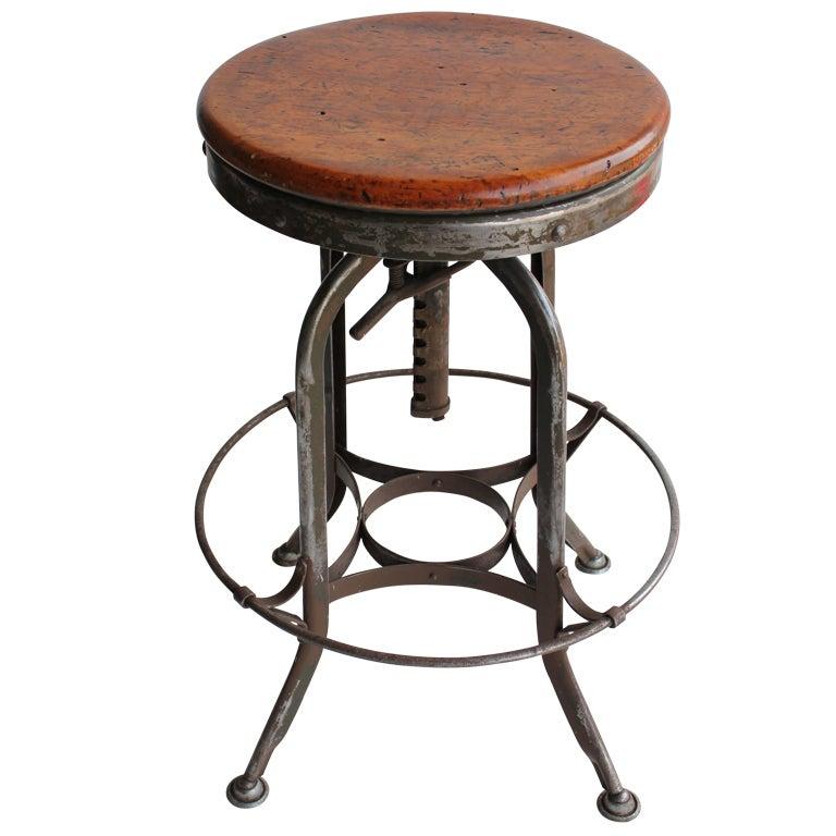 Vintage American Industrial Toledo Swivel stools, 2 available at 1stdibs