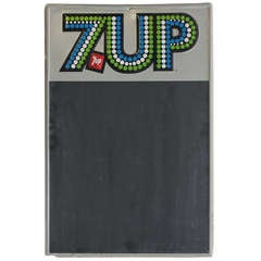 1970's Advertising Chalkboard for 7UP